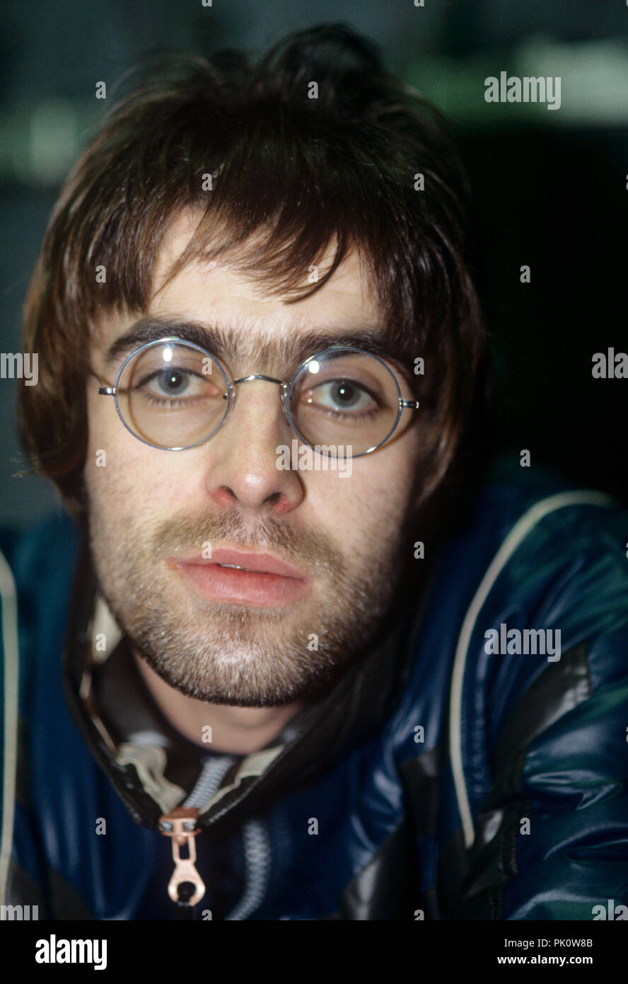 Liam Gallagher (Oasis) on 12.01.1996 in München / Munich. | usage worldwide - Stock Image
