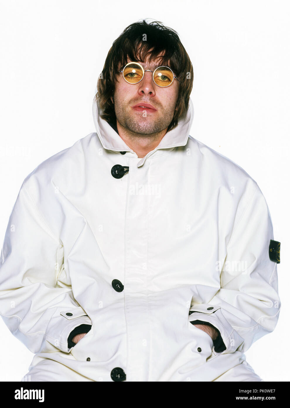 Liam Gallagher (Oasis) on 27.03.1996 in München / Munich. | usage worldwide - Stock Image