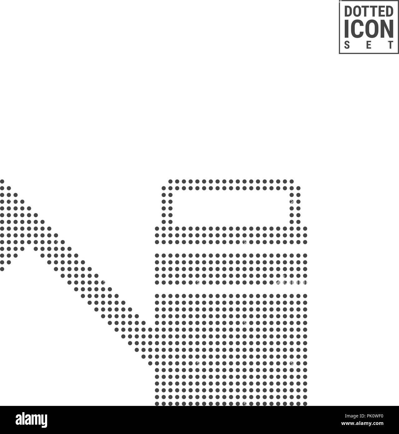 watering can dot pattern icon irrigation dotted icon isolated on