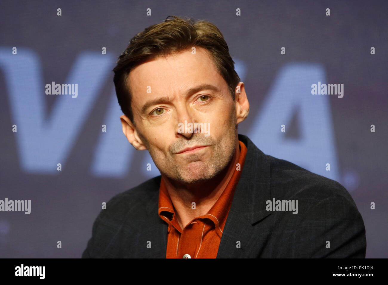 Hugh Jackman at 'The Front Runner' Press Conference at the Fairmont Royal York Hotel on September 8, 2018 in Toronto, Canada. - Stock Image