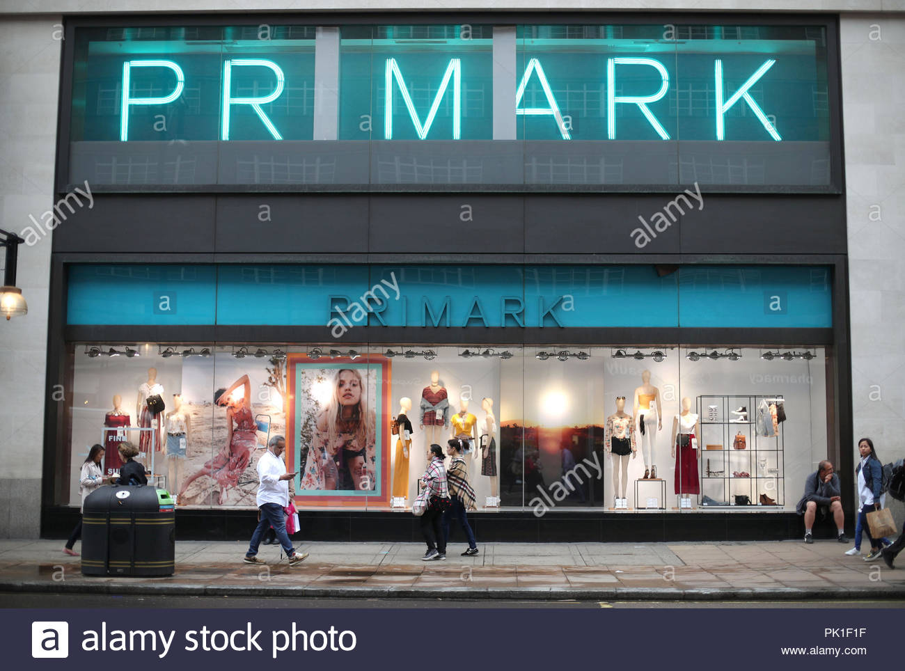 File photo dated 29/5/2018 of a branch of Primark on Oxford Street, central London. The retailer's owner Associated British Foods (AB Foods) has warned it will take a £20 million hit due to the stronger pound. - Stock Image