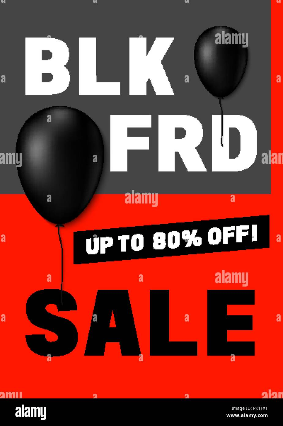Black Friday Poster Design With Modern International Typography Stock Vector Image Art Alamy