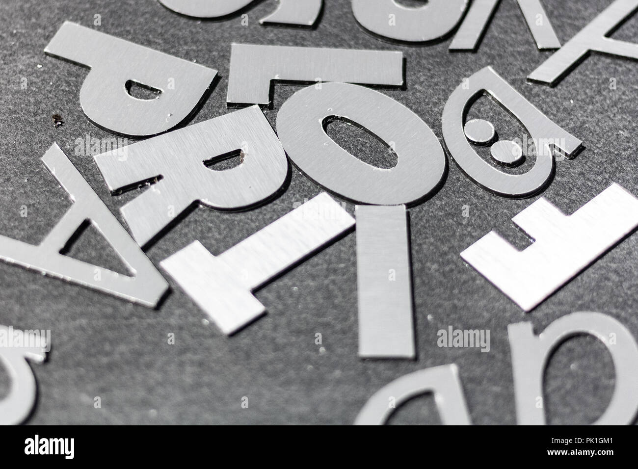 cutting out 3d steel letters for commercial advertising in an