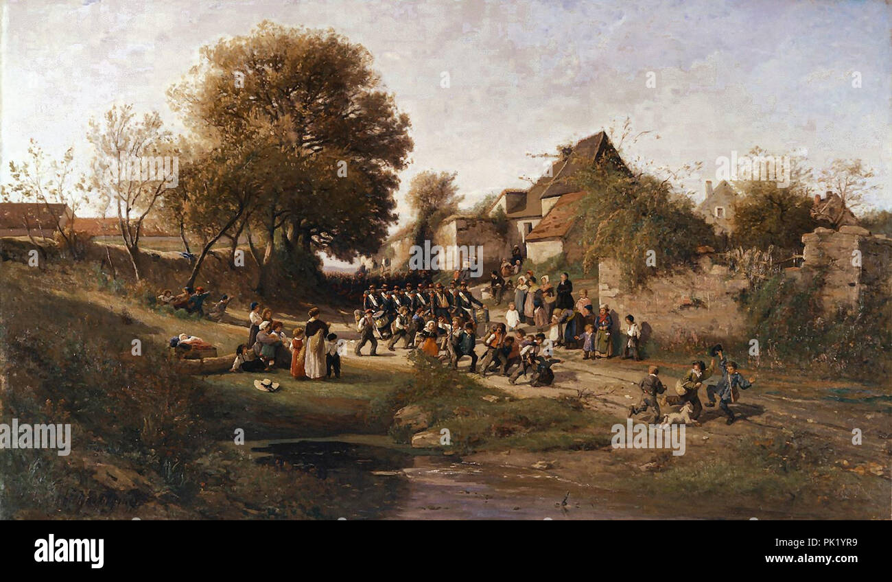 Harpignies  Henri Joseph - Return from Fhe War - Stock Image