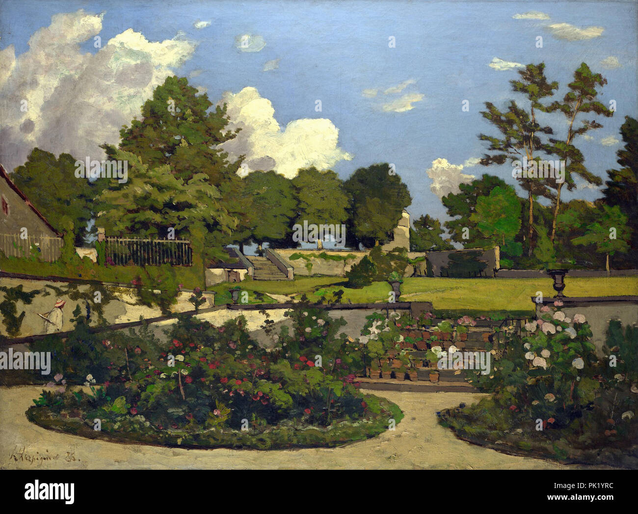 Harpignies  Henri Joseph - the Painter's Garden at Saint-Privé - Stock Image