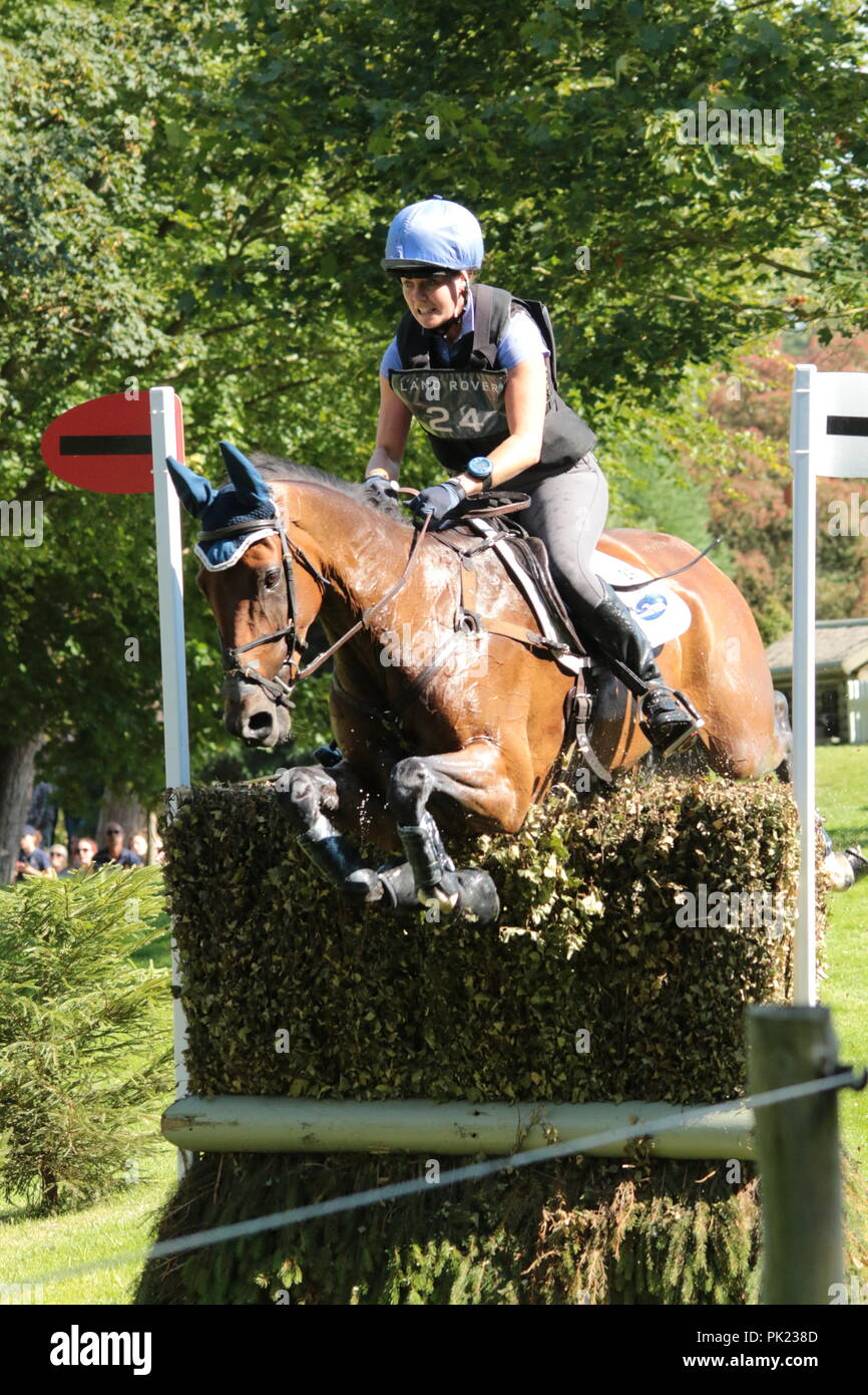 Burghley Horse Trials cross country - Stock Image