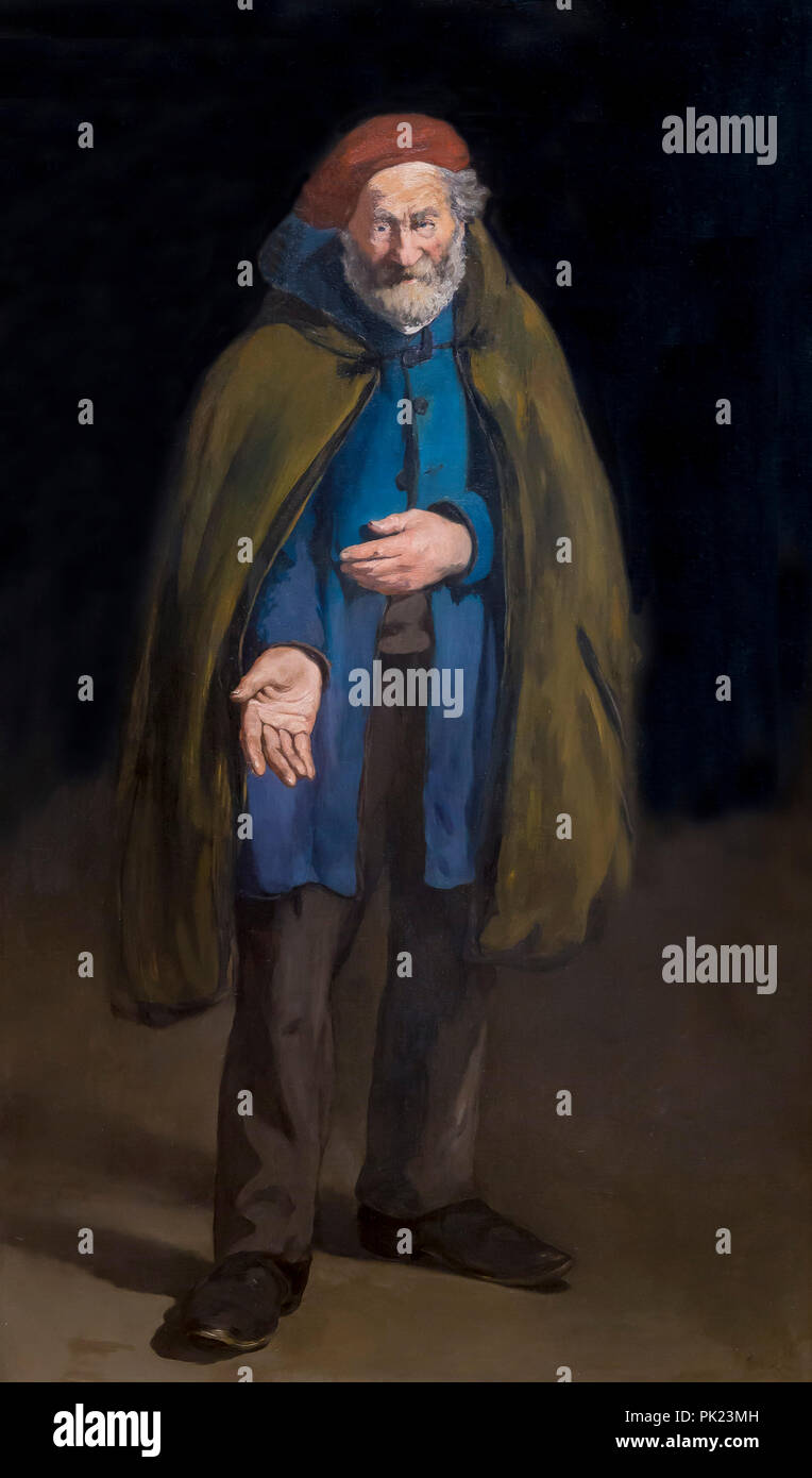 Beggar with a Duffle Coat, Philosopher, Edouard Manet, 1865-1867, Art Institute of Chicago, Chicago, Illinois, USA, North America, - Stock Image