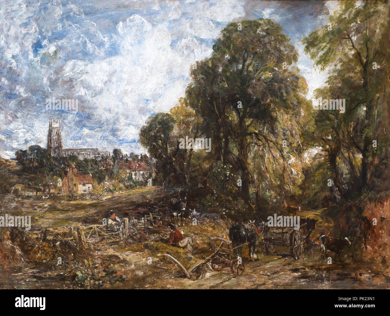 Stoke-by-Nayland, John Constable, 1836, Art Institute of Chicago, Chicago, Illinois, USA, North America, - Stock Image