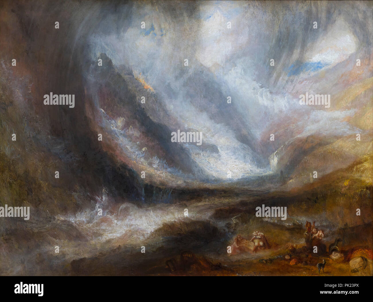 Valley of Aosta, Snowstorm Avalanche and Thunderstorm, JMW Turner, 1836-1837, Art Institute of Chicago, Chicago, Illinois, USA, North America, - Stock Image