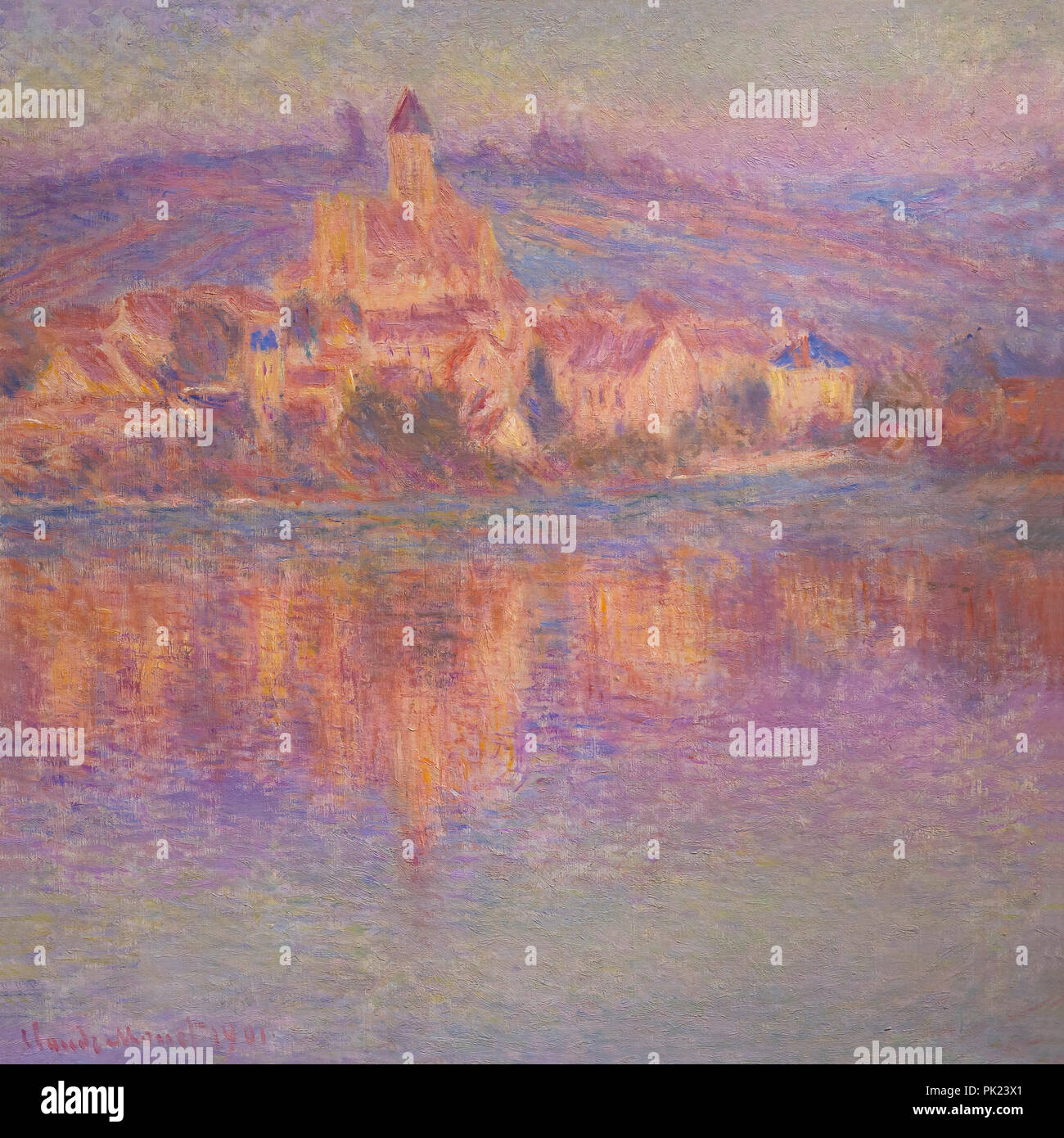 Vetheuil, Claude Monet, 1901, Art Institute of Chicago, Chicago, Illinois, USA, North America, - Stock Image