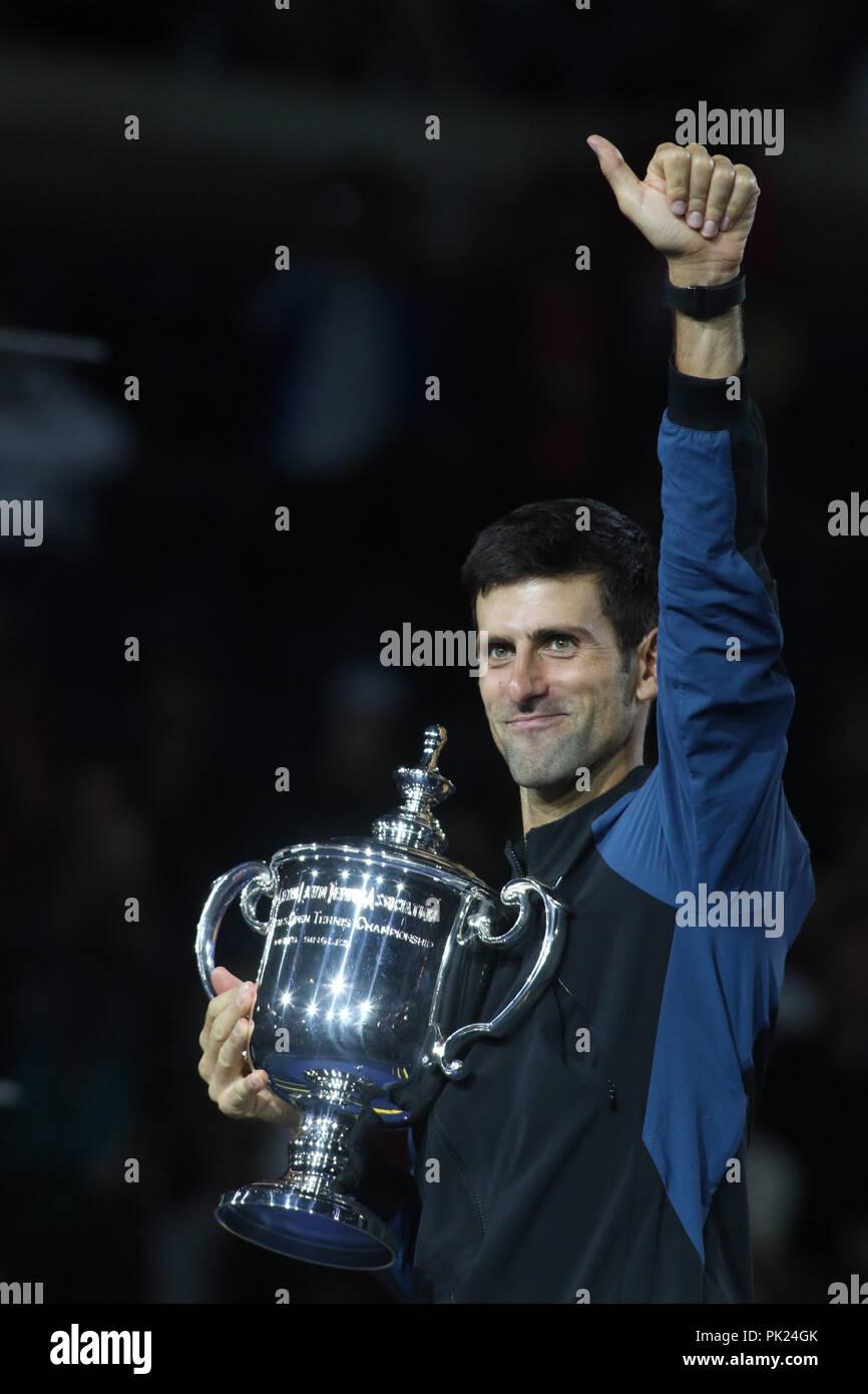 Novak Djokovic US Open Tennis 9-9-2018 Photo by John Barrett/PHOTOlink - Stock Image