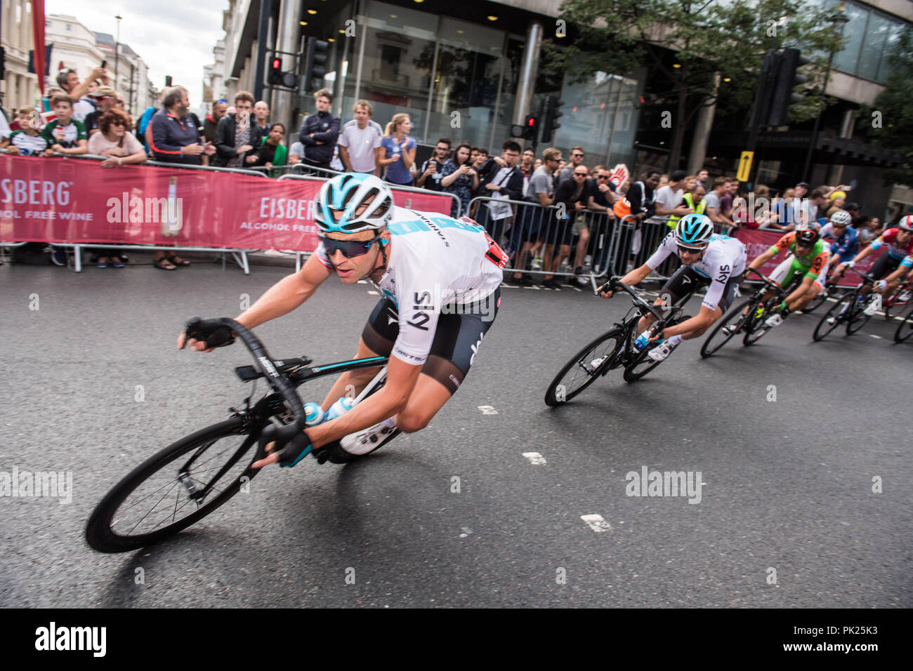 Ovo Tour of Britain, stage 8,London England UK. 9th September 2018 Stock Photo