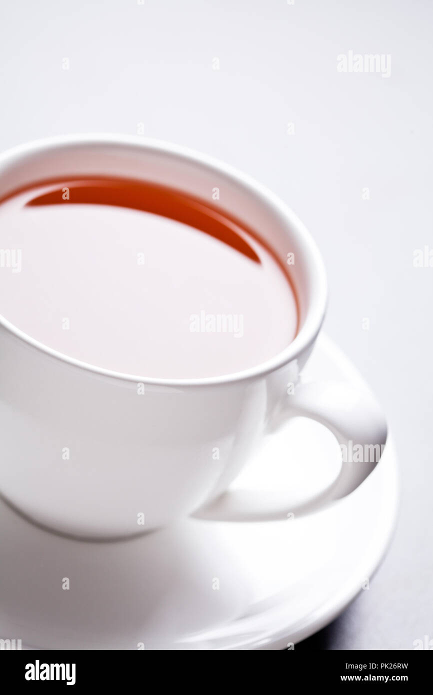 Close up of a cup of hot tea - Stock Image