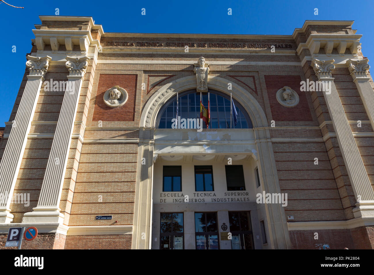 MADRID, SPAIN - JANUARY 21, 2018:  National Museum of Natural Sciences at Paseo de la Castellana street in City of Madrid, Spain - Stock Image