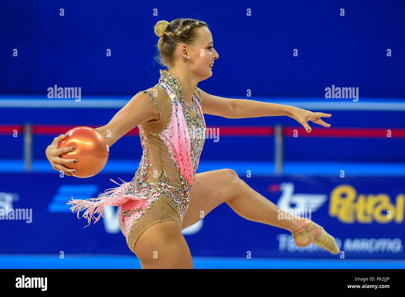 Sofia, Bulgaria. September 10, 2018: Nicol Ruprecht of Austria during Rhythmic Gymnastics World Championships at the Arena Armeec in Sofia at the 36th FIG Rhythmic Gymnastics World Championships. Ulrik Pedersen/CSM Credit: Cal Sport Media/Alamy Live News - Stock Image
