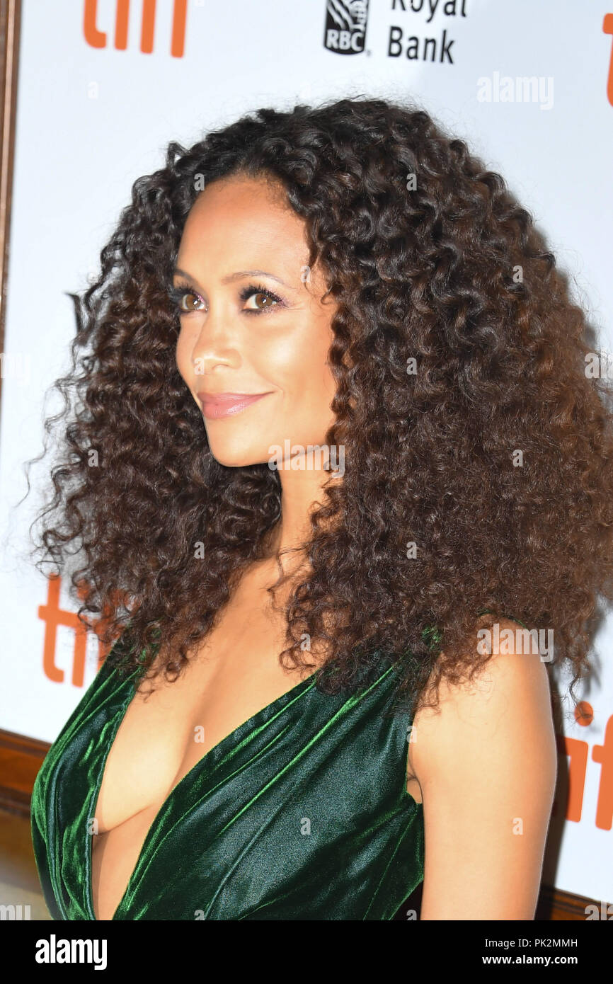 Toronto, Ontario, Canada. 10th Sep, 2018. THANDIE NEWTON attends 'The Death and Life of John F. Donovan' premiere during the 2018 Toronto International Film Festival at Winter Garden Theatre on September 10, 2018 in Toronto, Canada Credit: Igor Vidyashev/ZUMA Wire/Alamy Live News - Stock Image