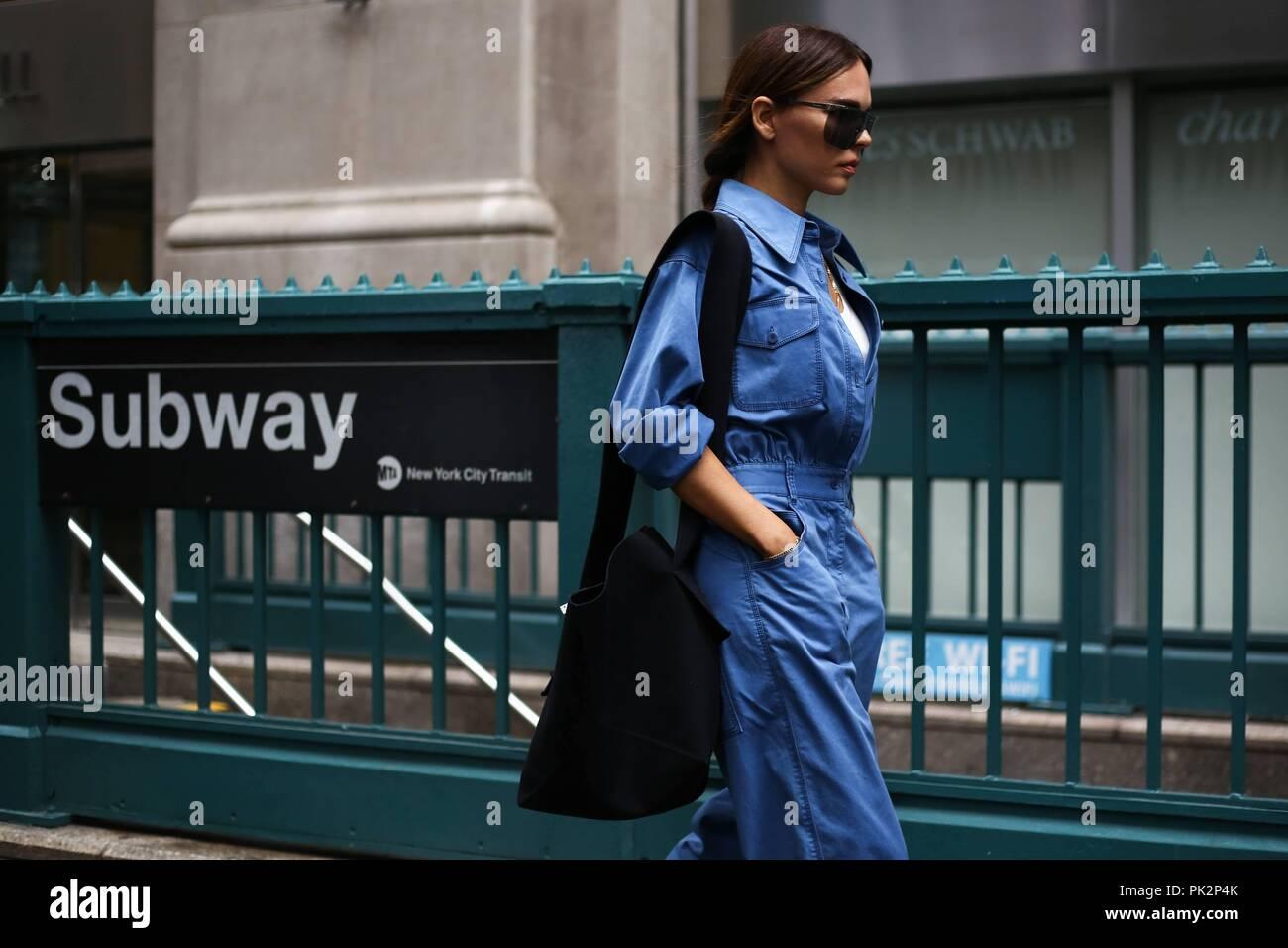 Blogger Evangelie Smyrniotaki Posing On The Street Outside The Tibi
