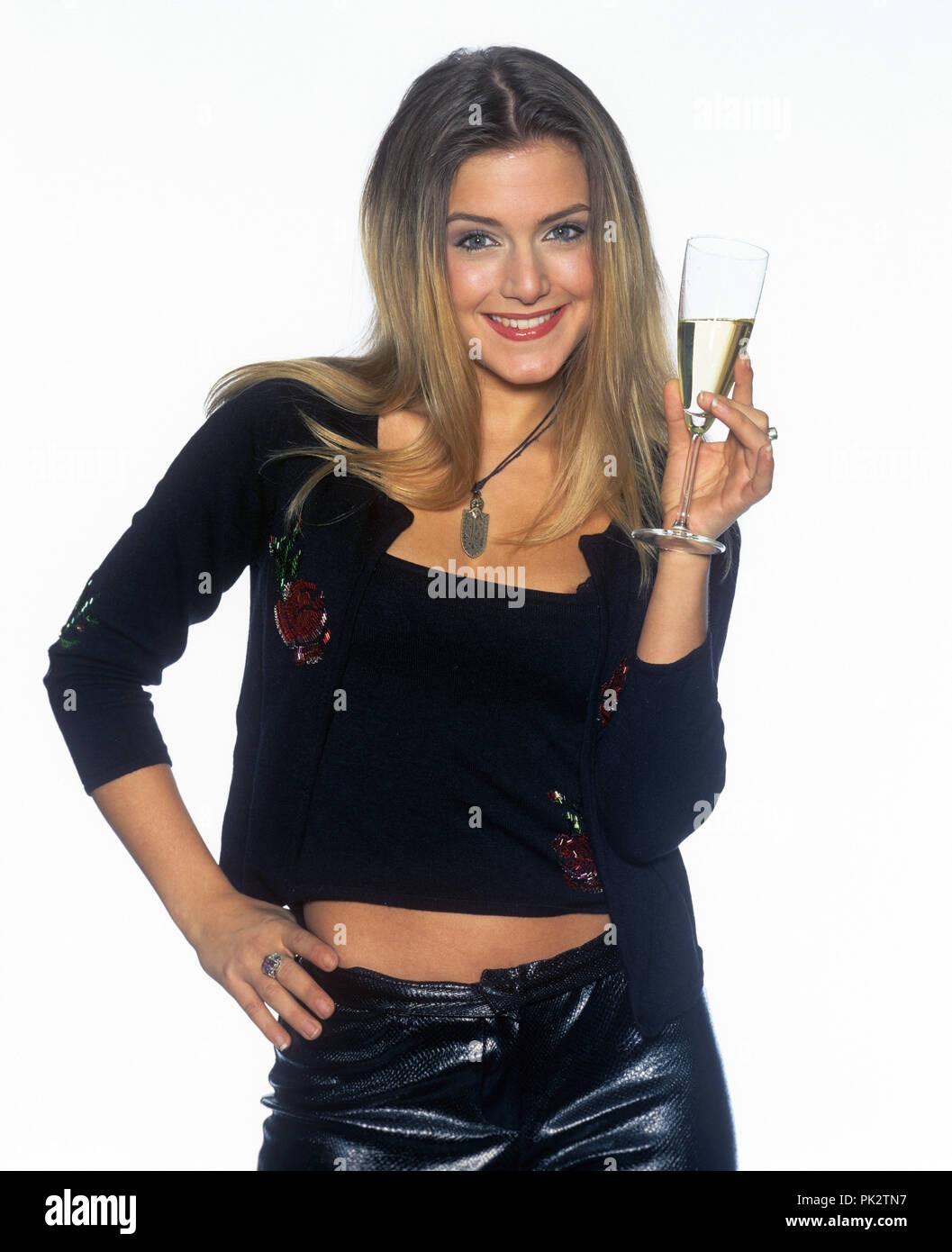 Jeanette Biedermann on 11.12.2000 in Potsdam. | usage