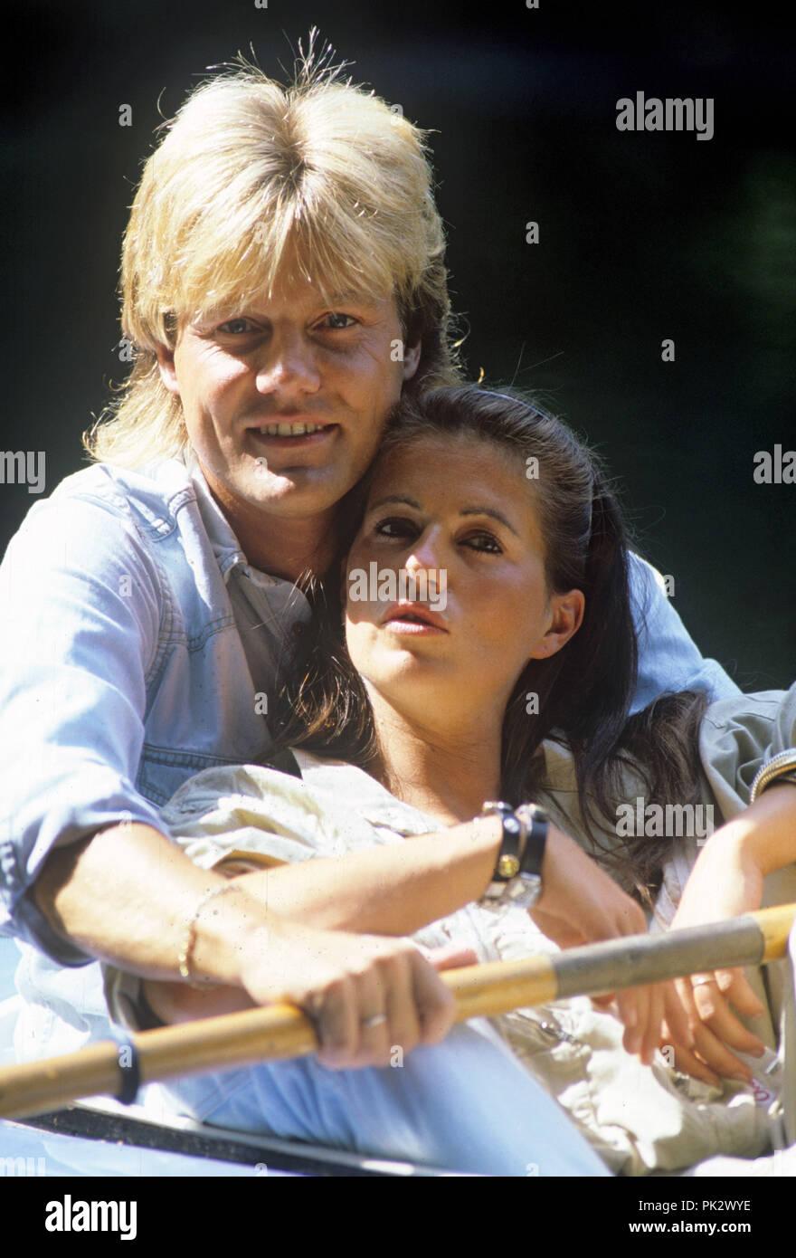 Dieter Bohlen und Erika Sauerland on 30.07.1986 in Hamburg