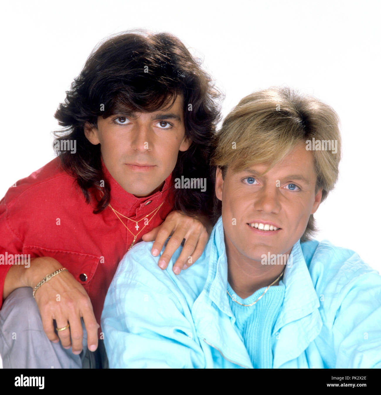 Modern Talking (l-r): Thomas Anders, Dieter Bohlen on 22 ...