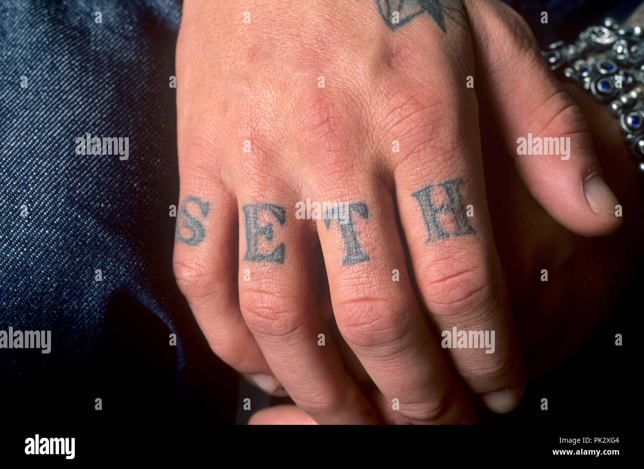 Shifty Shellshock (Crazy Town) on 19.03.2001 in Berlin. | usage worldwide - Stock Image