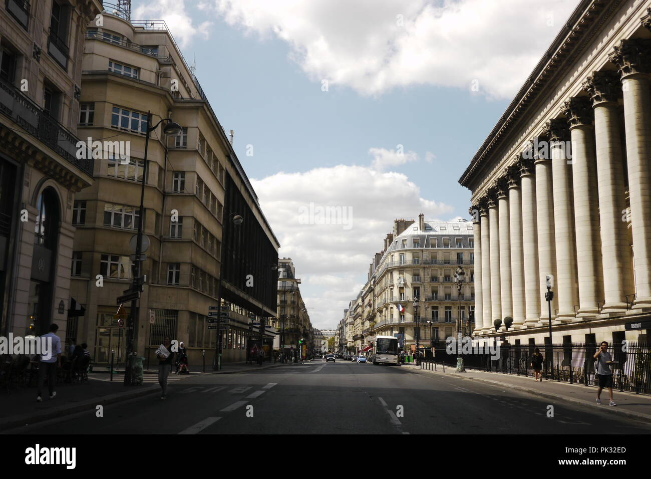 Empty streets in Paris during the summer when most people take a holiday. Kind of surreal. - Stock Image