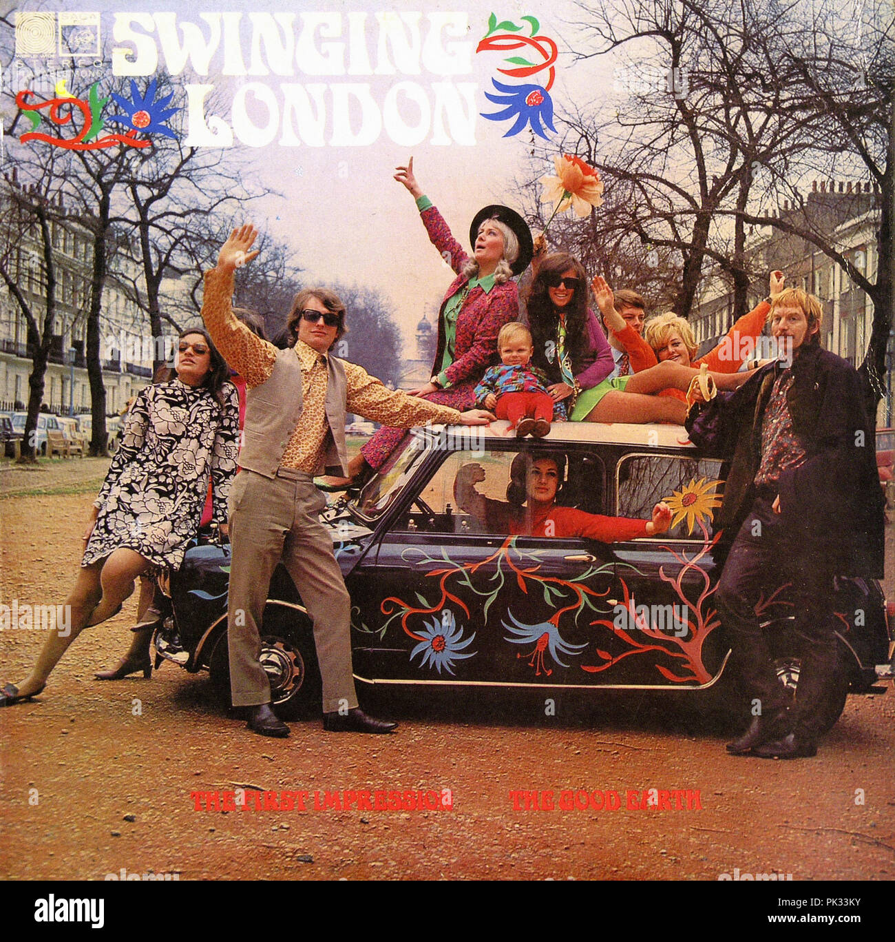 vintage vinyl record album - Swinging London  1968 - Stock Image