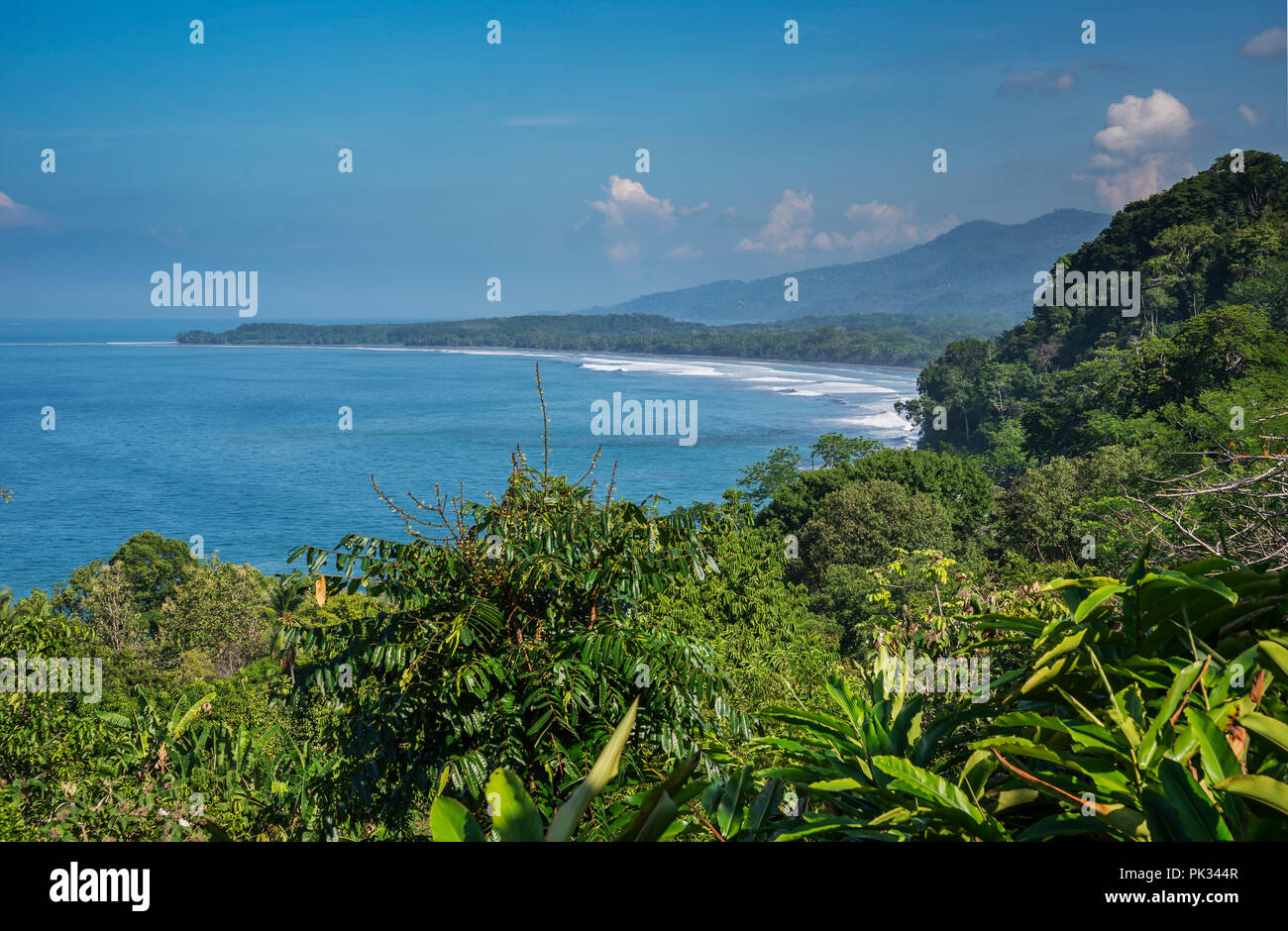 View of the Pacific from La Cusinga Hotel, Costa Rica - Stock Image