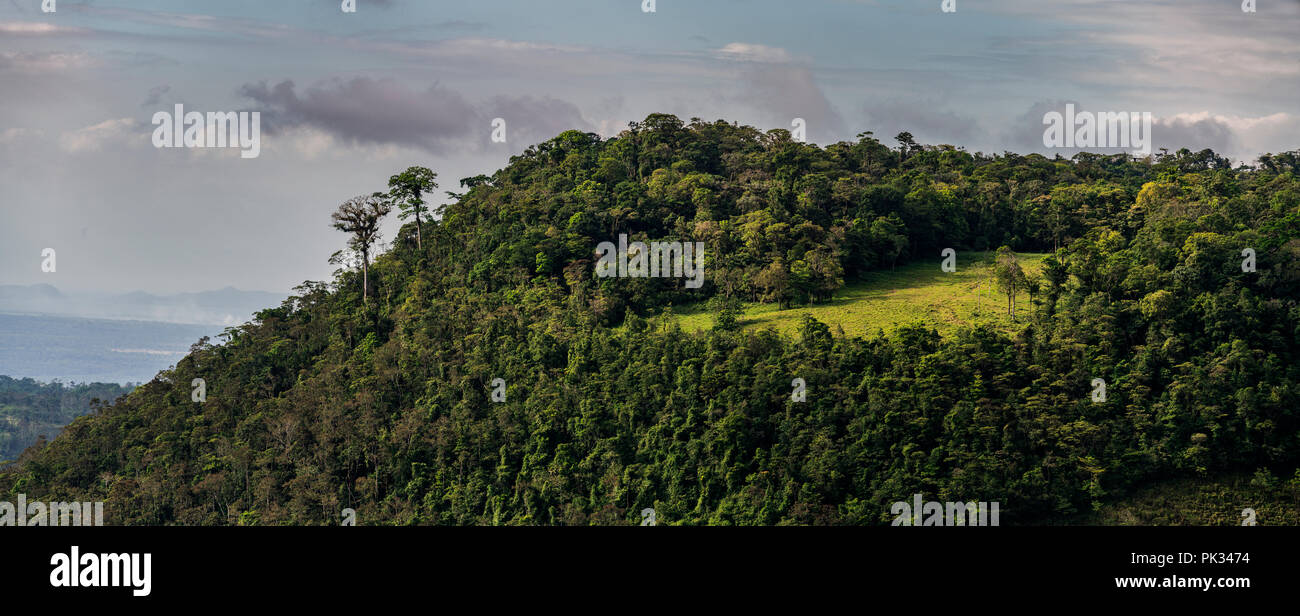 View from Mirador El Silencio Hotel, San Carlos, Costa Rica - Stock Image