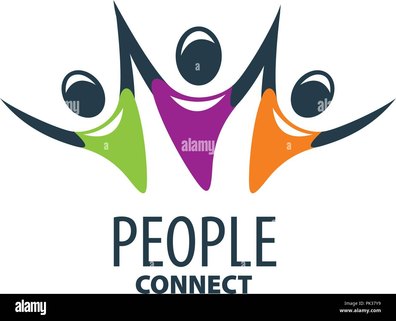 vector logo people - Stock Vector