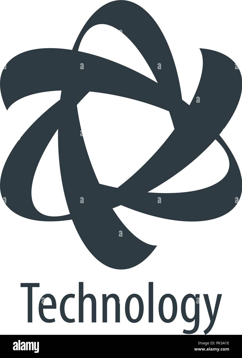 vector logo technology Stock Vector