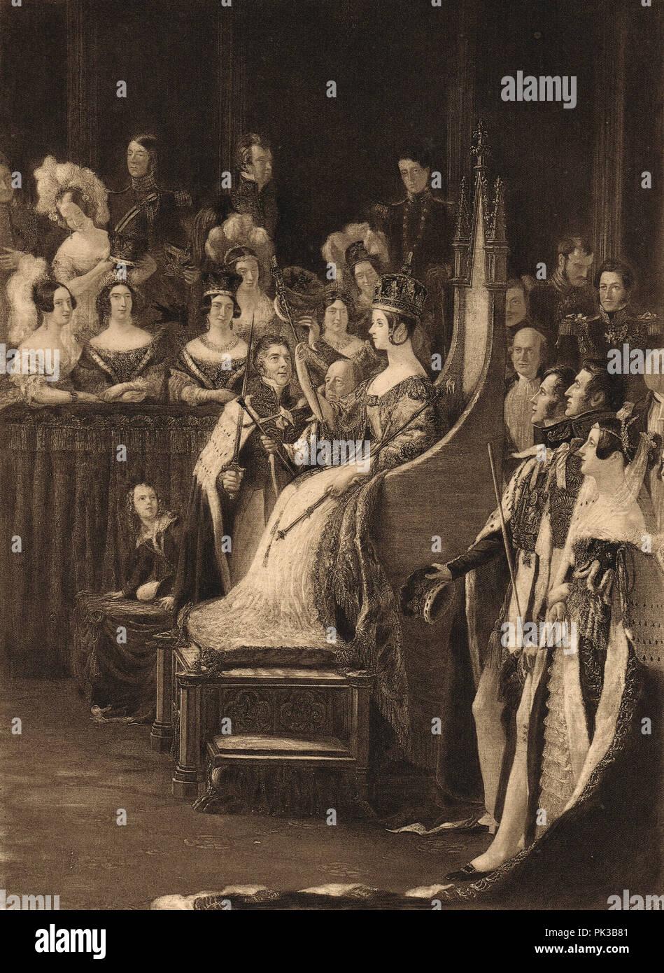 Coronation of Queen Victoria, 28 June 1838 - Stock Image