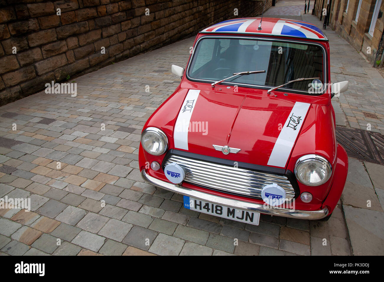 Union Jack On Mini Roof Stock Photos Union Jack On Mini Roof Stock