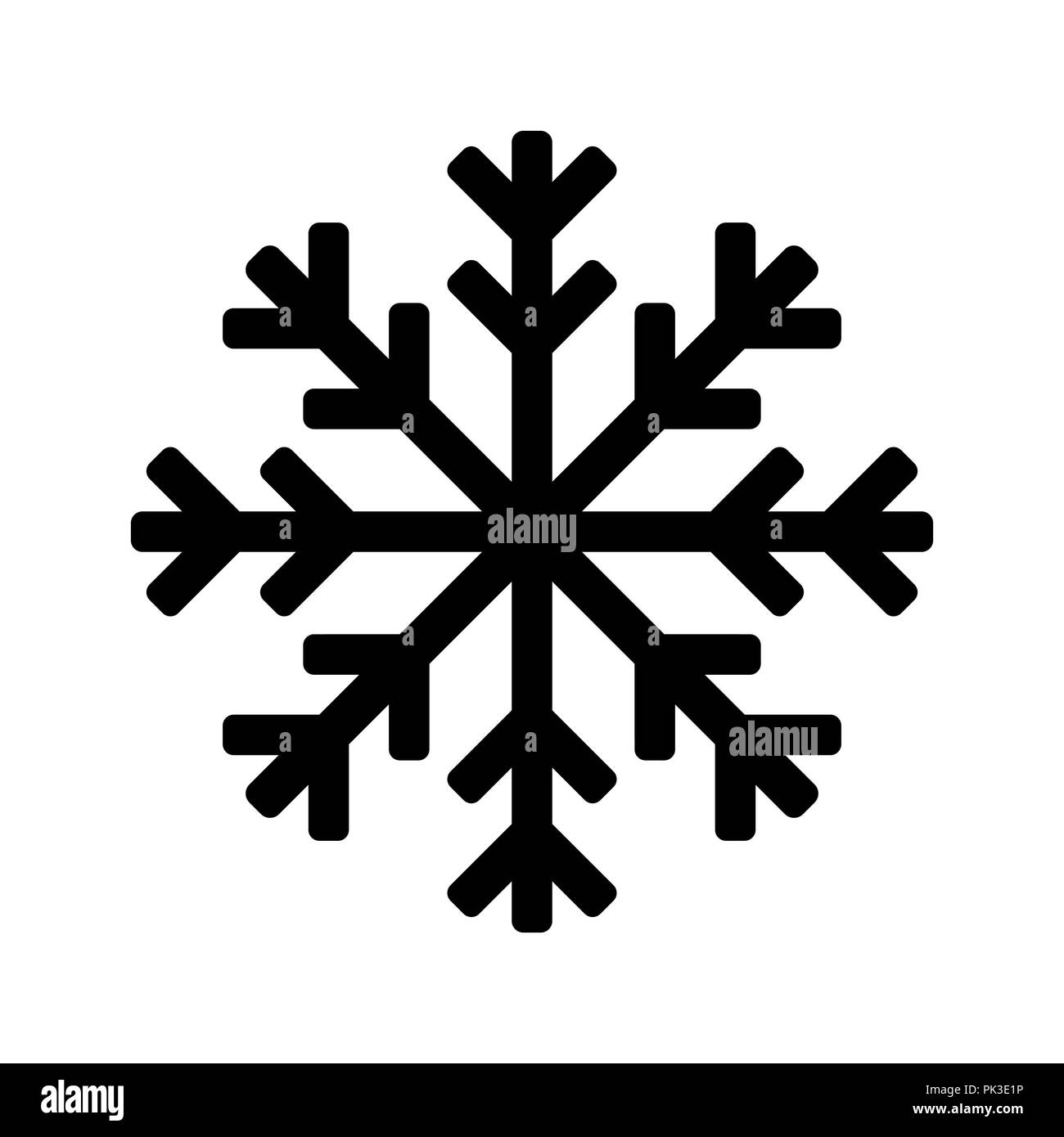 Snowflake Icon Or Logo Christmas And Winter Theme Vector Symbol