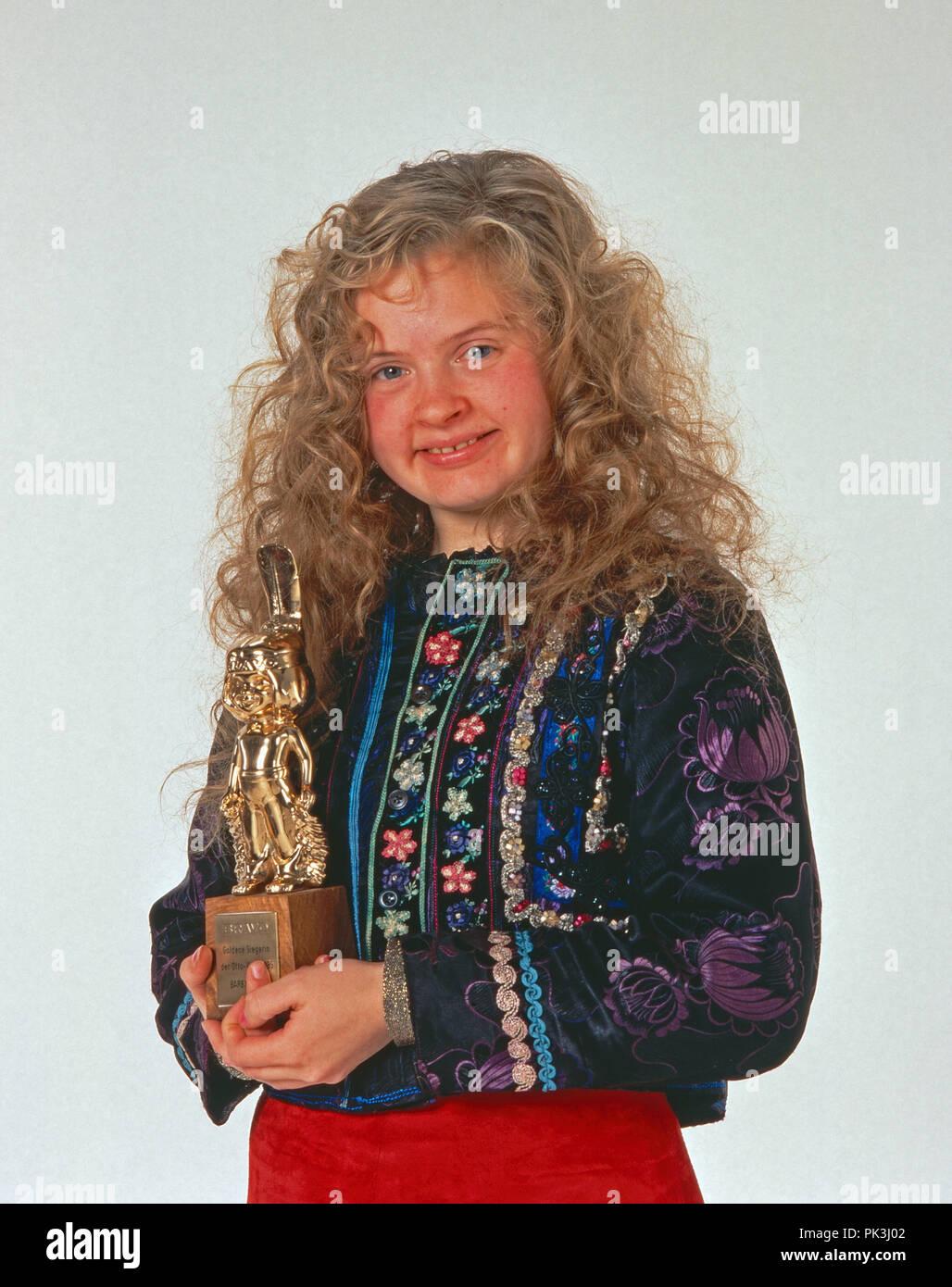 Barby Kelly Mit Dem Bravo Otto 1995 Deutschland 1990er Jahre Barby