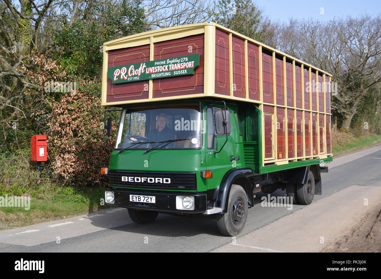 Bedford TL Horsebox - Stock Image