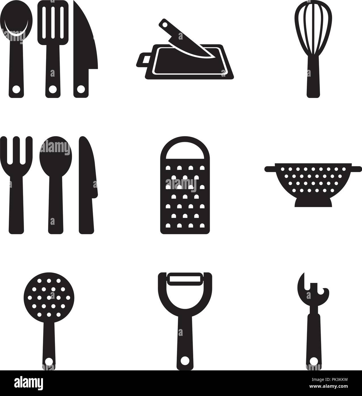 Basic Kitchen Utensils 05 - Stock Vector