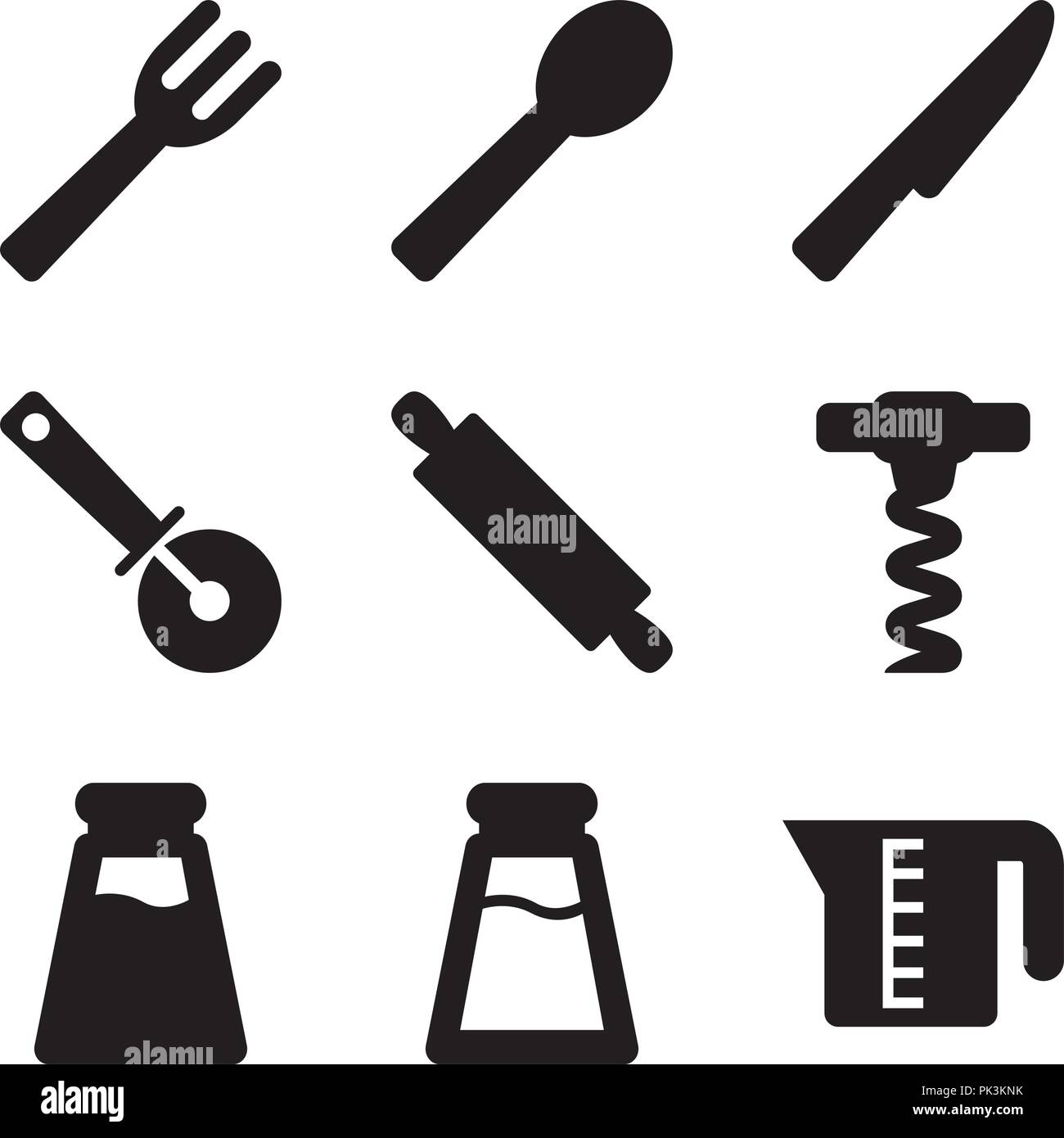 Basic Kitchen Utensils 04 - Stock Vector