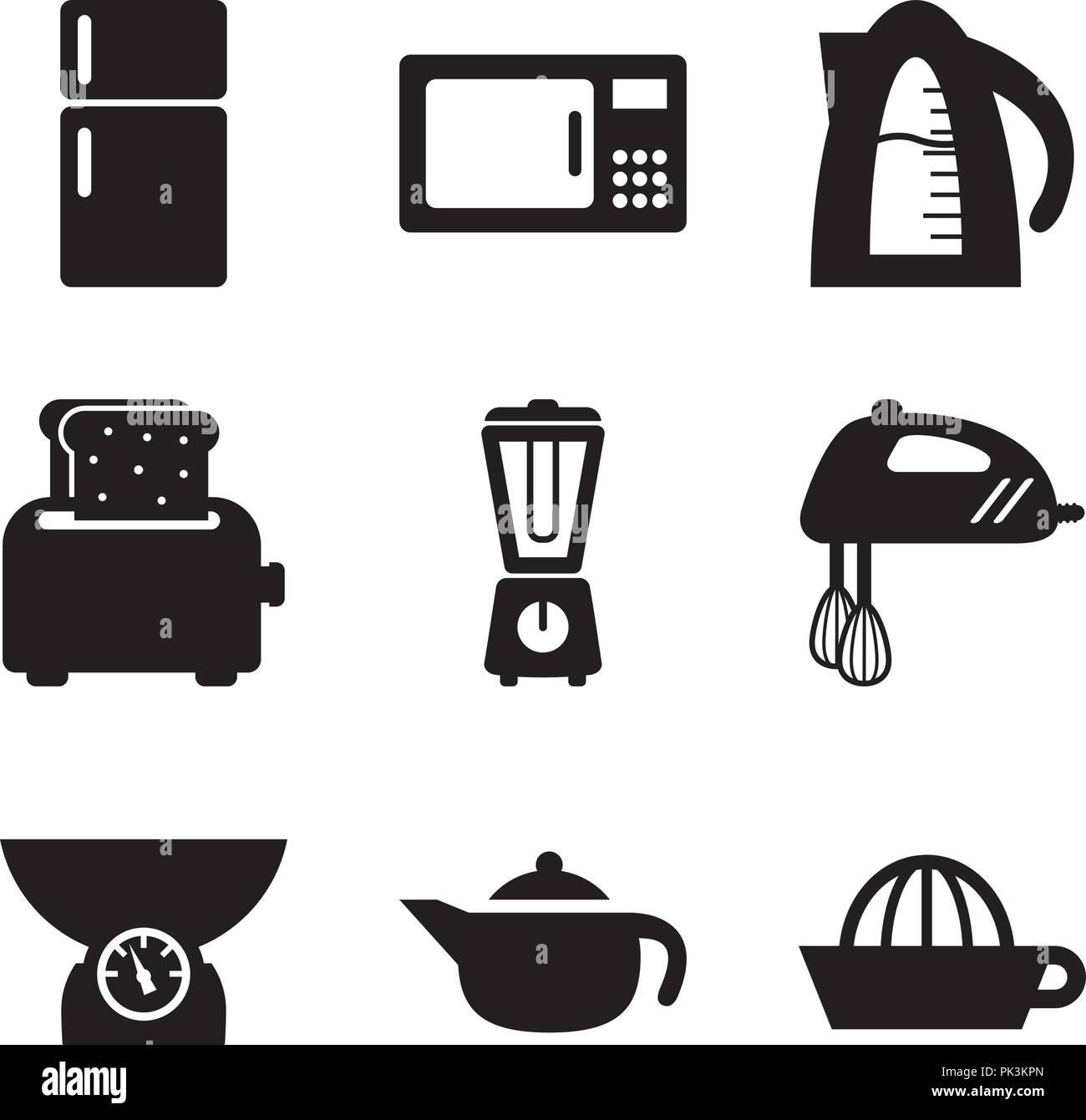 Basic Kitchen Utensils 06 - Stock Vector