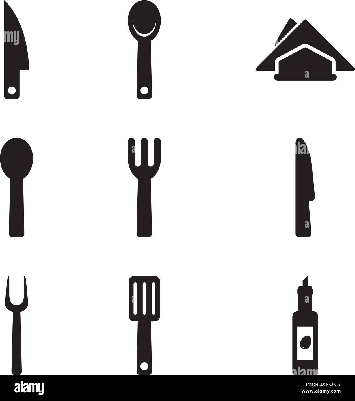 Basic Kitchen Utensils 01 - Stock Vector