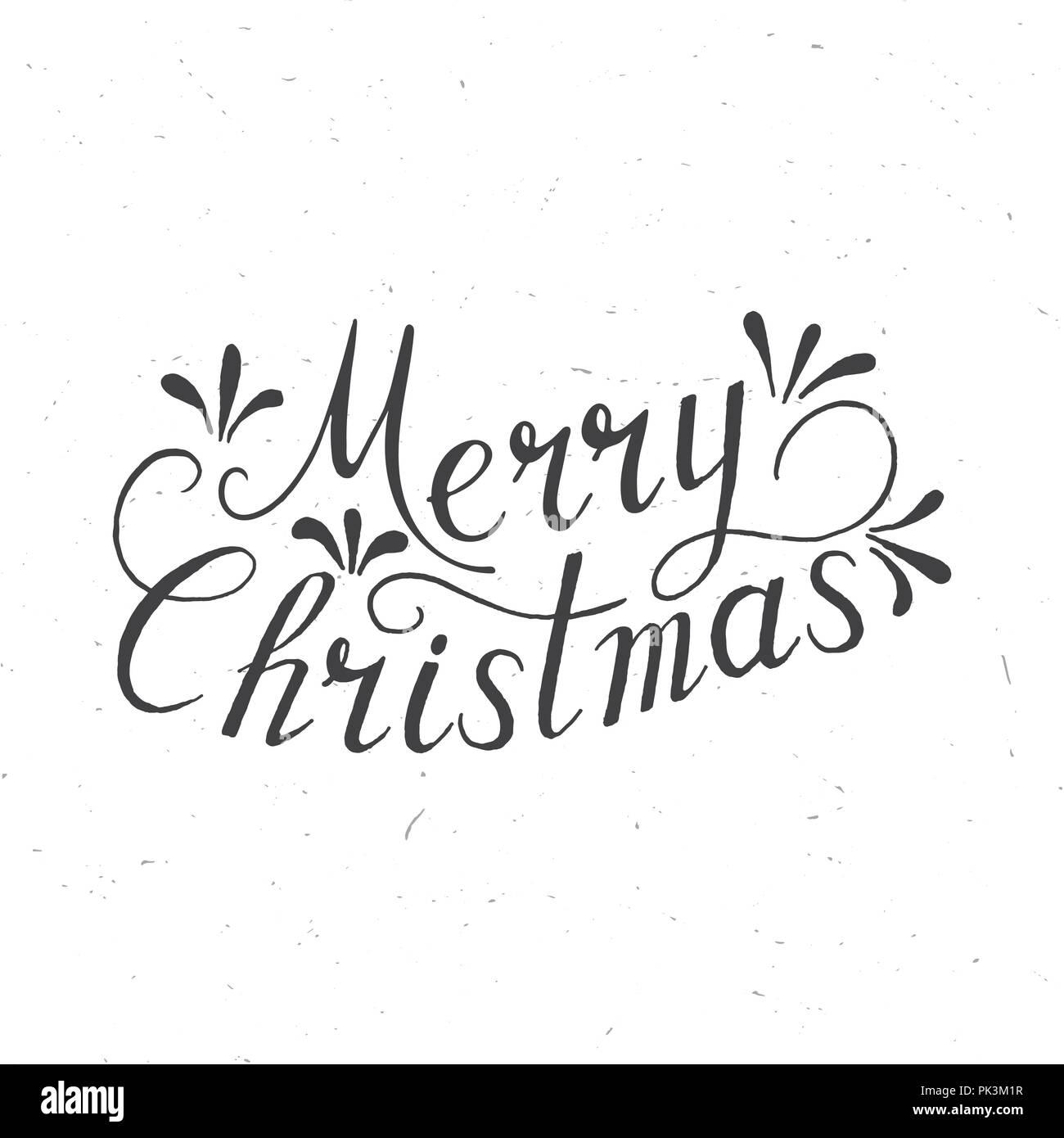 merry christmas lettering design vector illustration element for