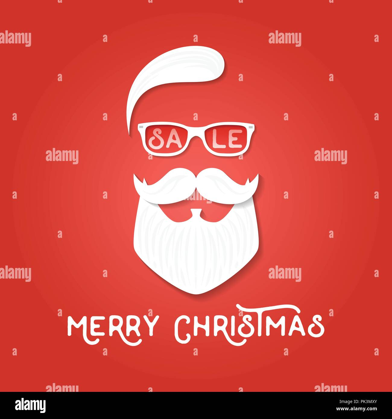 Christmas Sale Season Template Santa Claus On The Red Backgrounds