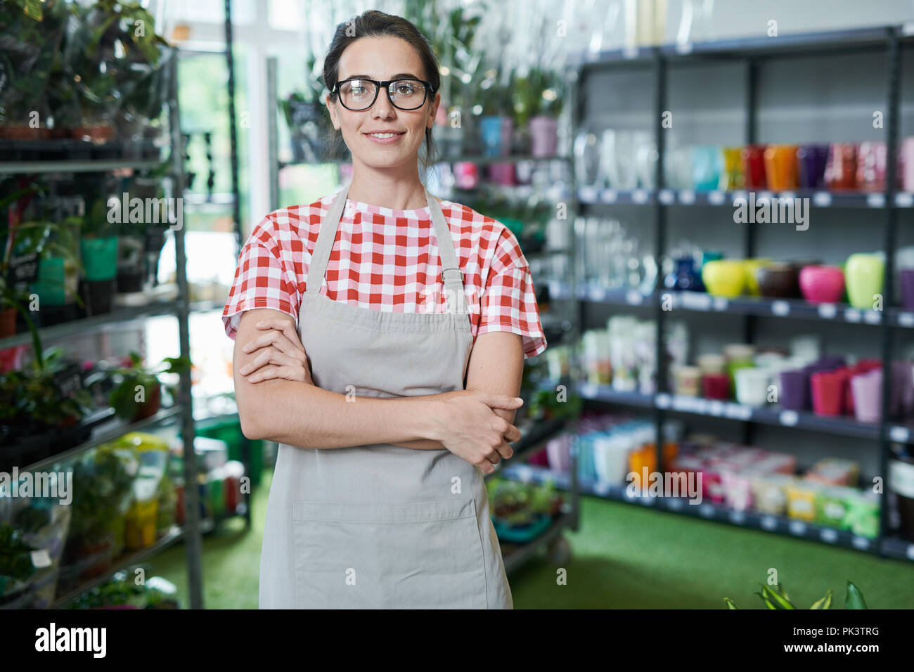 Flower Shop Owner - Stock Image
