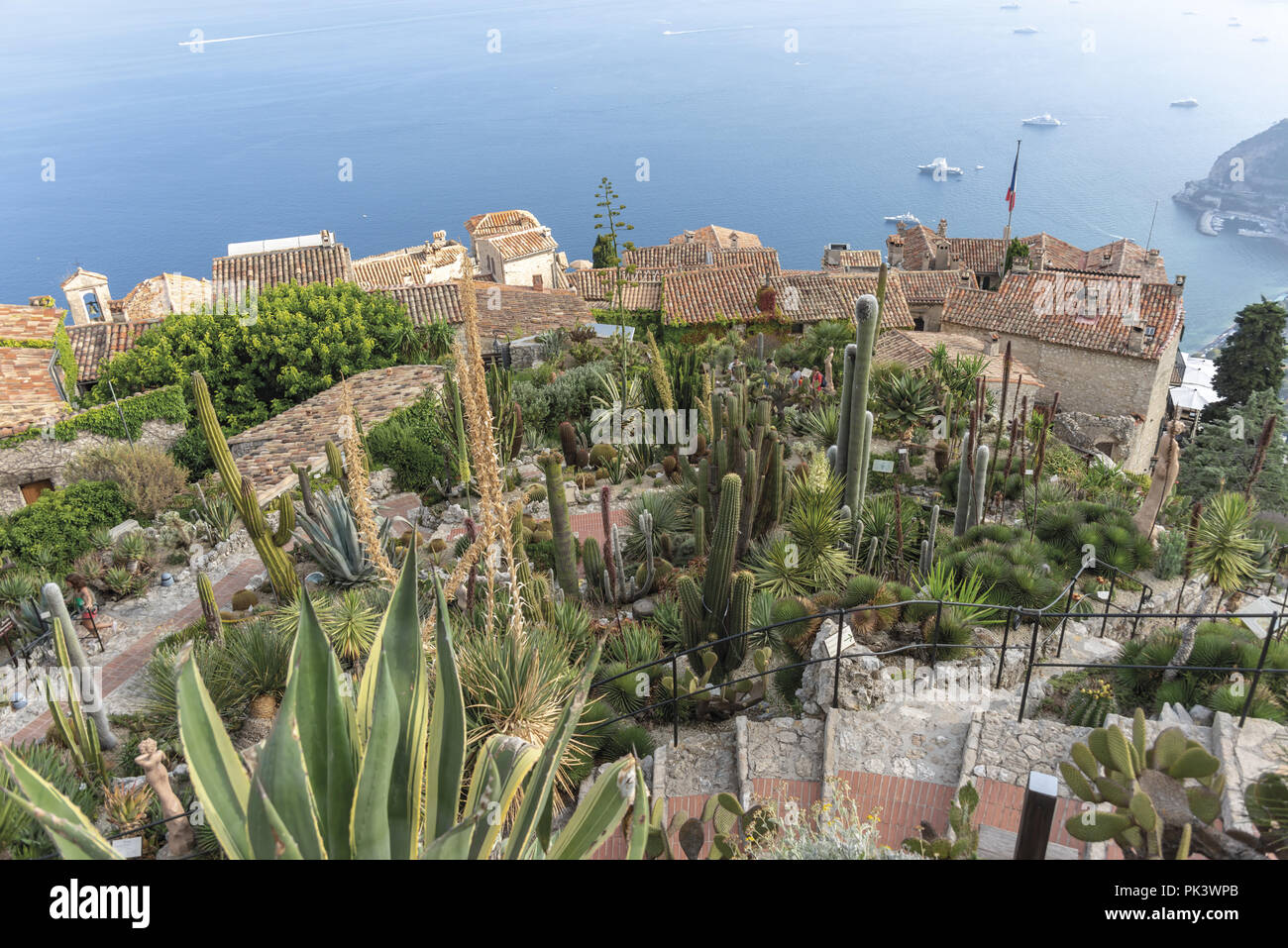 Francia Nizza Eze Città medievale giardino botanico succulente 9 - Stock Image