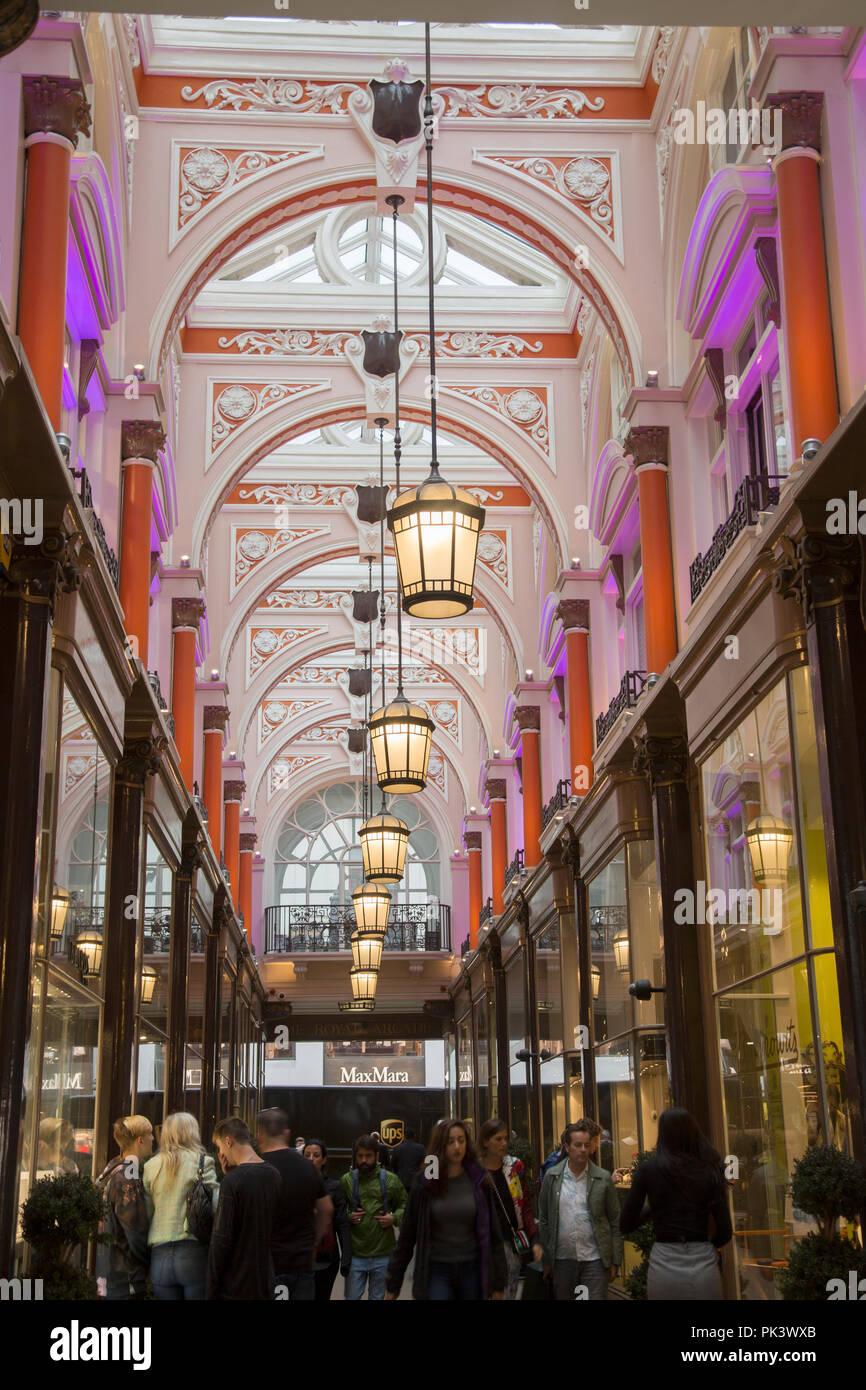 Royal Arcade; London; England; UK Stock Photo