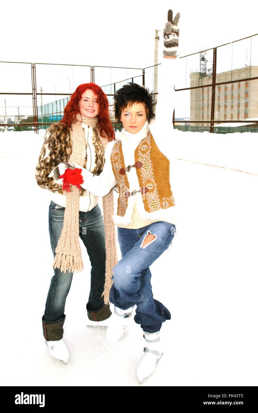 Tatu in 2003 in Moscow. | usage worldwide - Stock Image