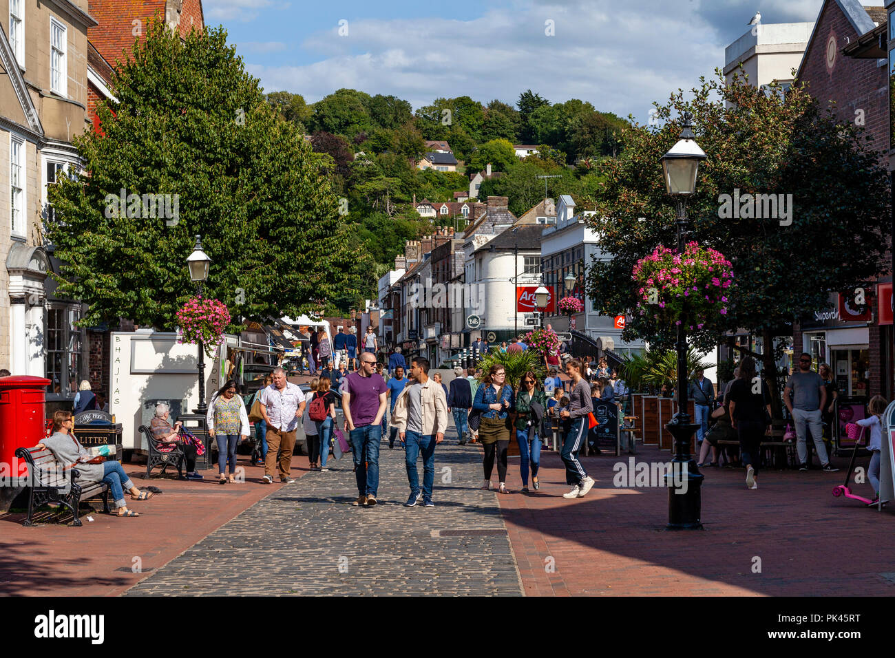 Cliffe High Street, Lewes, East Sussex, UK - Stock Image