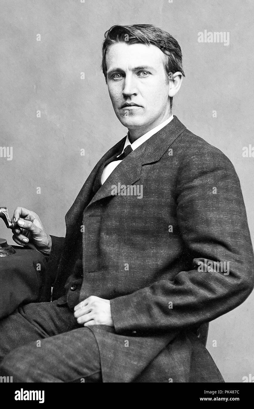 Portrait Of Thomas Alva Edison Stock Photo 218297168 Alamy
