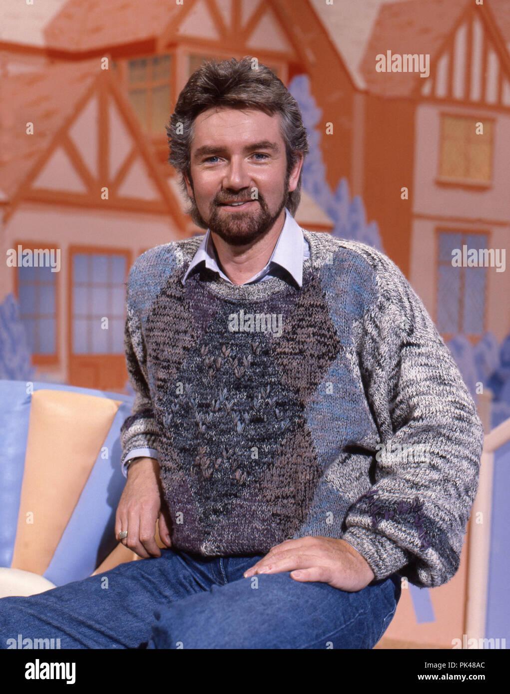 Noel Edmonds presents Xmas show BBC 1990 - Stock Image