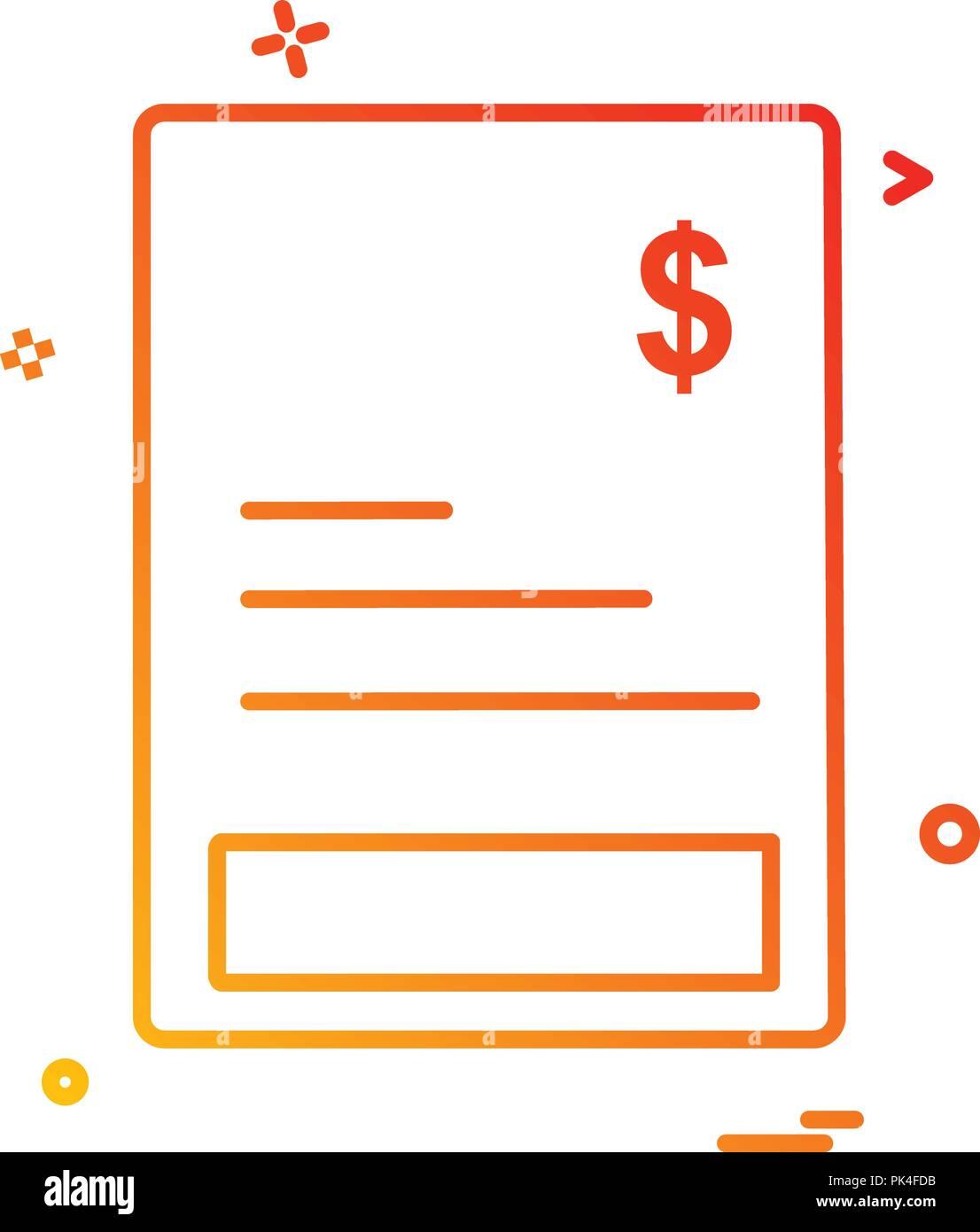Invoice Icon Design Vector Stock Vector Art Illustration Vector